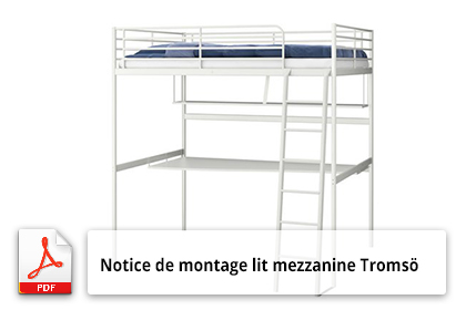 manuel de montage de lit mezzanine tromso ikea notice utilisation. Black Bedroom Furniture Sets. Home Design Ideas