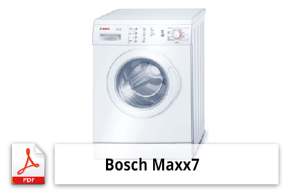 notice d 39 utilisation et mode d 39 emploi pour lave linge bosch maxx 7. Black Bedroom Furniture Sets. Home Design Ideas
