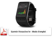 garmin vivoactive hr mode d'emploi