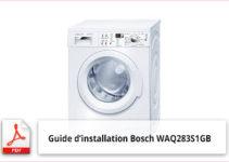 Mode d'emploi machine à laver Bosch WAQ283S1GB