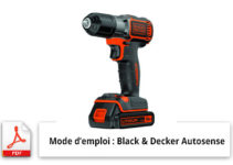 Perceuse sans fil Black & Decker - Autosense
