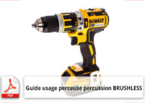 Perceuse percussion BRUSHLESS mode emploi en français