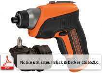 Notice utilisateur Black & Decker CS3652LC