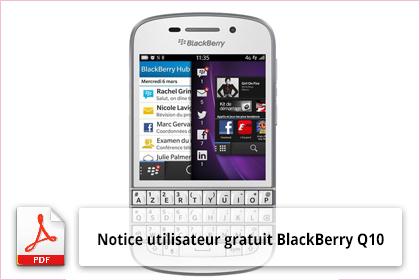 notice utilisateur blackberry q10