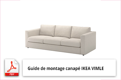 guide de montage canap ikea vimle en u. Black Bedroom Furniture Sets. Home Design Ideas