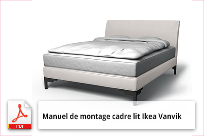 manuel de montage cadre lit ikea vanvik dessin 3d. Black Bedroom Furniture Sets. Home Design Ideas