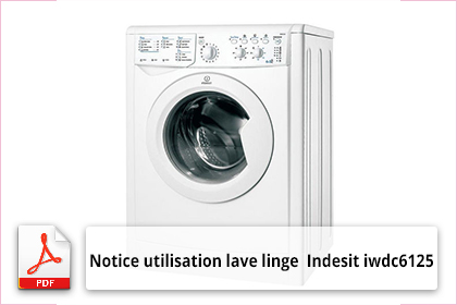 mode d 39 emploi lave linge s chant indesit iwdc 6125. Black Bedroom Furniture Sets. Home Design Ideas