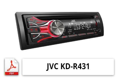 notice d 39 utilisation poste autoradio jvc kd r431. Black Bedroom Furniture Sets. Home Design Ideas
