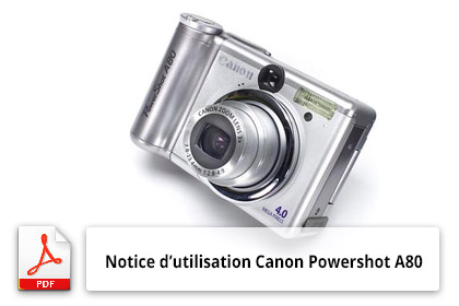 Notice Canon Powershot A80