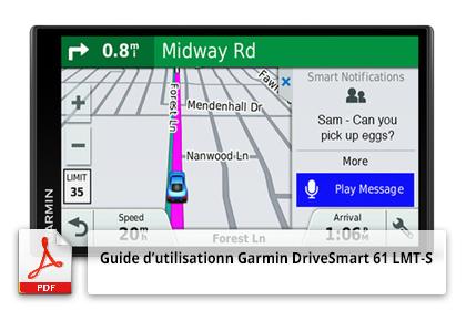 Guide d'utilisation du GPS Garmin DriveSmart 61 LMT-S