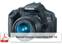 Manuel Français de l'appareil photo Canon EOS Rebel T3i