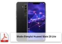 Mode emploi gratuit Huawei Mate 20 Lite