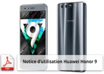 Télécharger la notice d'utilisation du smartphone Huawei Honor 9