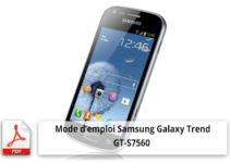 Téléphone portable samsung galaxy trend gt-s7560 mode d'emploi