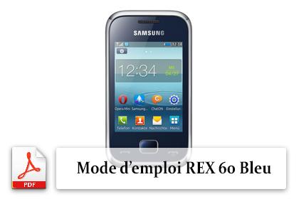 Télécharger le guide utilisateur FR du téléphone portable Samsung Rex 60 Bleu