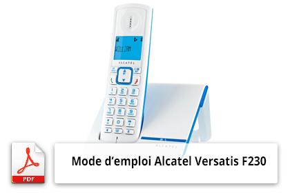 Télécharger le mode d'emploi du téléphone sans fil Alcatel Versatis F230
