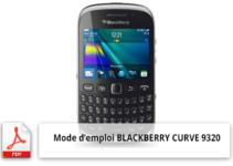 mode d'emploi téléphone portable BLACKBERRY CURVE 9320