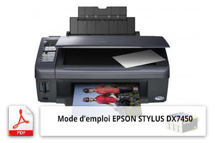 Mode d'emploi de l'imprimante EPSON STYLUS DX7450