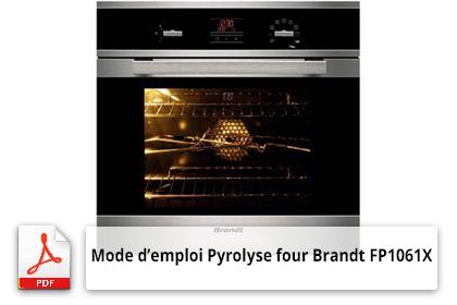 Télécharger le mode d'emploi Pyrolyse four Brandt FP1061X