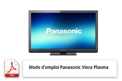 Mode d'emploi du télévisuer Panasonic Viera Plasma