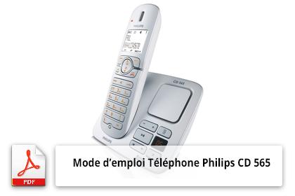 Télécharger le mode'emploi téléphone Philips CD 565