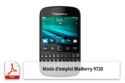 Télécharger le mode d'emploi BlackBerry 9720