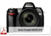 Mode d'emploi de l'appareil photo numérique Nikon D70
