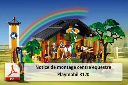 Télécharger la notice de montage centre equestre playmobil 3120