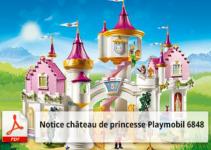 Notice de montage château de princesse Playmobil 6848