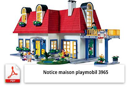 Télécharger la notice maison playmobil 3965