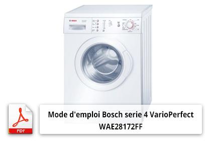 Télécharger Bosch serie 4 VarioPerfect WAE28172FF mode d'emploi