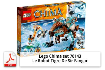 Notice Lego Chima set 70143 Le Robot Tigre De Sir Fangar