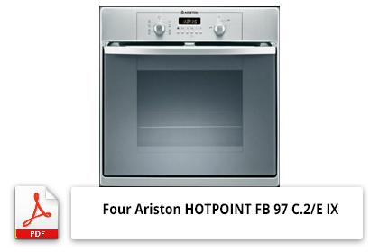 Notice four Ariston HOTPOINT FB 97 C.2/E IX