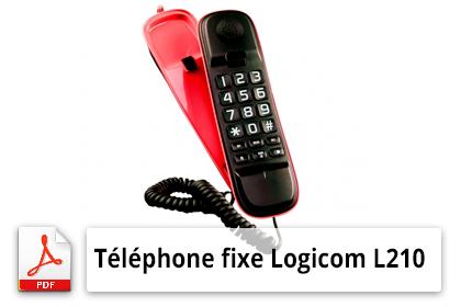 éléphone fixe Logicom L210 mode d'emploi
