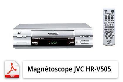 Mode d'emploi magnétoscope JVC HR-V505