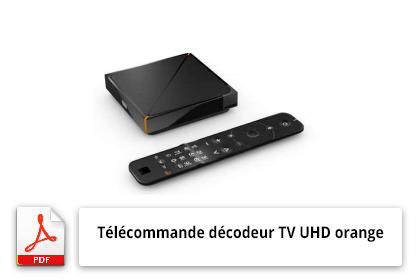 Mode d'emploi télécommande décodeur TV Orange