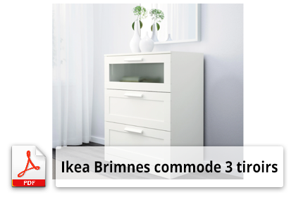 Ikea Brimnes commode 3 tiroirs Plan de montage