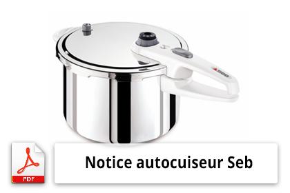Notice autocuiseur Seb Sensor