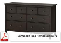 Notice de fixation et plan de montage commode IKEA HEMNES (8 tiroirs)