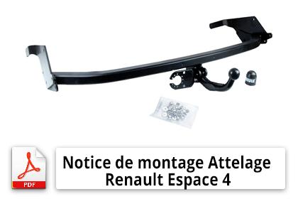 Notices de montage Attelage Renault Espace 4