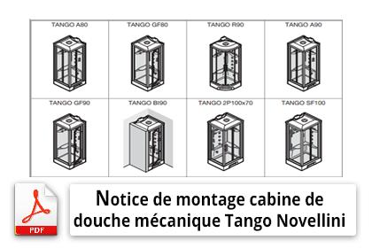 Notice de montage de cabine de douche mécanique Tango Novellini