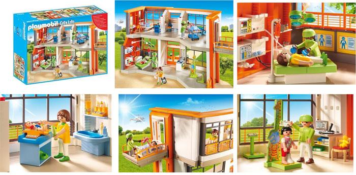 Playmobil 6657 : l'hôpital pédiatrique aménagé City Life